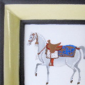 Square tray with horse Hermes style